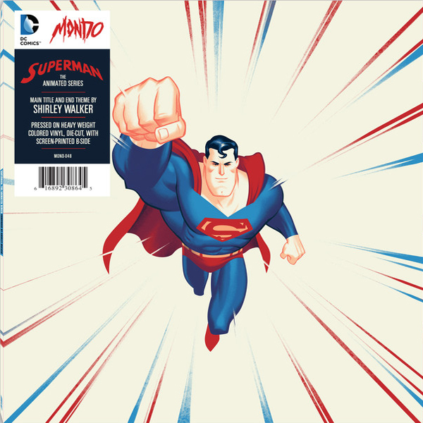 San diego comic con 2015 exclusive superman the animated series die cut single record by shirley walker x phantom city creative x mondo