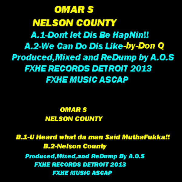 OMAR S - Nelson County